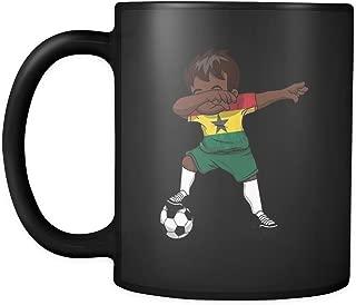 Dabbing Soccer Boy Ghana Ghanaian Accra Gifts National Soccer Tournament Game 11oz Black Coffee Mug ~ Both Sides Printed