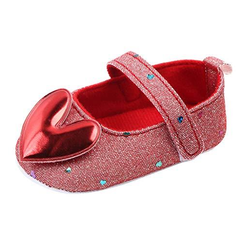 WEXCV Schuhe Baby Mädchen Newborn Casual Weiche Sohle Loafers Turnschuhe Antirutsch Krippeschuhe Herzform Kinderschuhe Princess Kleinkind Schuhe Krabbelschuhe Wanderschuhe
