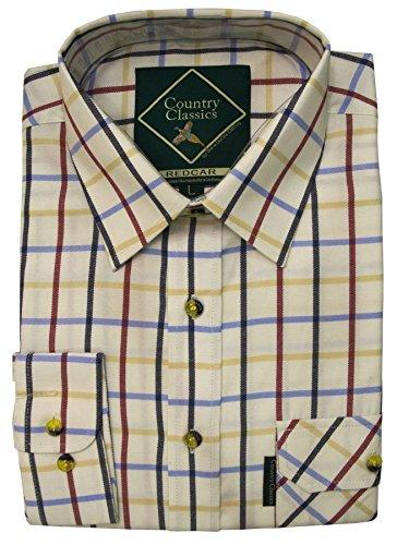 Country Classics–camiseta a cuadros, de hombre, rústica–pesada–de Calidad–Fácil cuidado