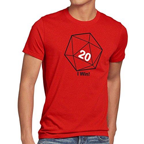 style3 Sheldon W20 Cubo Camiseta para Hombre T-Shirt, Talla:L;Color:Rojo