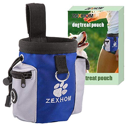 ZEXHOM Dog Treat Pouch, Portable Dog Training Bag with Belt Clip, Drawstring Design Training Pouch...