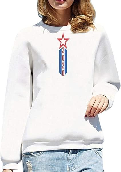 Redacel Fashion Women Girl Hoodies Sweatshirt Cute Star Pattern Printed Long Sleeve Casual Top Blouse