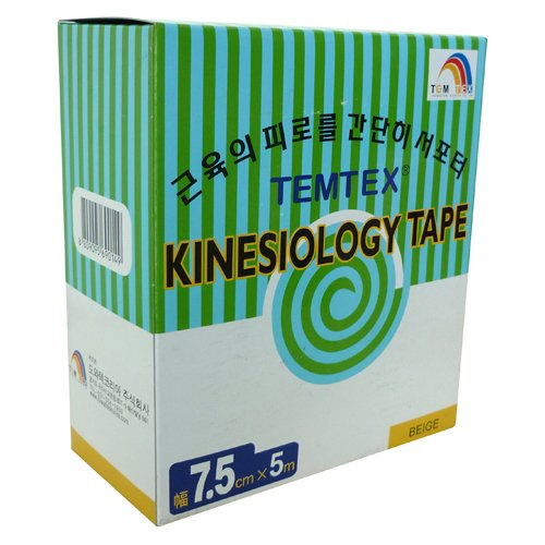 TEMTEX–Kinesiology Tape 7,5x 54UDS, Größe 7,5cm x 5m, beige