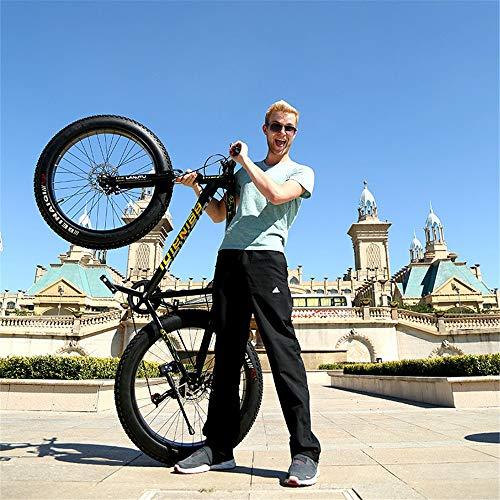 WYX Mountainbike, Schnee-Fahrrad 24 Geschwindigkeit 26 Zoll Außendoppelscheibenbremse Springergabel Dämpfer Aufhängung Fahrrad,a,26