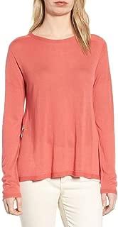 Seamless Tencel Knit Jewel Neck Lighweight Pink A-Line Tunic Top