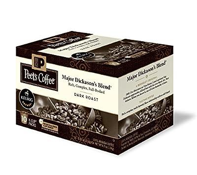 Peet's Coffe & Tea Single Serve K-Cups 3 Pack, Major Dickason's Blend, 10 Count 3 Pack