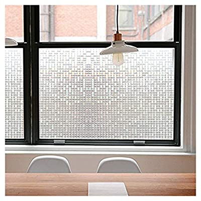 Privacy Window Films, Translucent Glass Tint Static Cling Treatment Reflects Rainbow Effect with Sunlight - Home Security and Decorative, Heat Control, UV Prevention (Crystal Mosaic, 35.4x78.7 Inches)