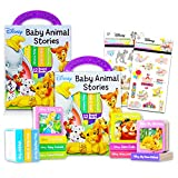Disney Bedtime Stories Book Set Bundle ~ Set of 12 Disney Storybook Collection Board Books Block Tower for Toddler Kids with Reward Stickers (Disney Books for Baby)