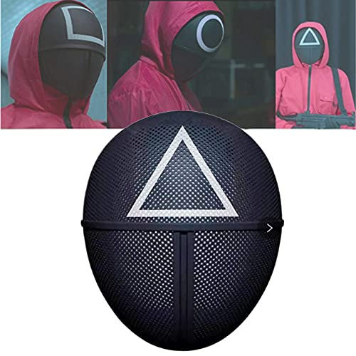 ZDDO Máscara De Juego De Calamar,máscara De Disfraz De Juego De Calamar, Reality Survival TV 2021 Cosplay Masquerade Accesorios Halloween