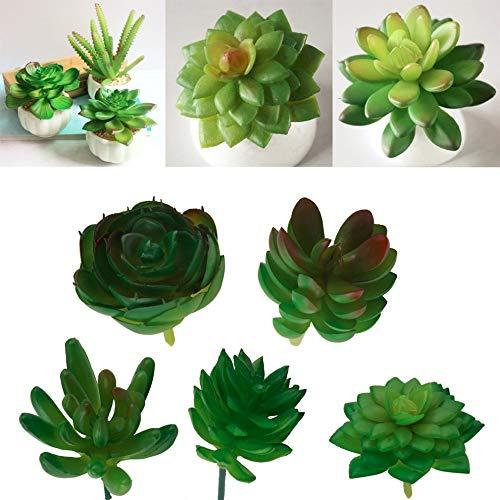 Pinkdose 1pc 2018 NOUVEAU artificielle Mini plastique Succulentes miniature Plantes Art jardin Décoration d'intérieur: Fleur