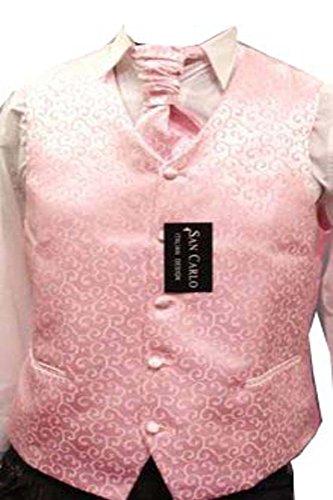 """Elegance1234 Paisley Rose Mariage Gilet de Jeu des Hommes(ref:Pink Paisley Waistcoat) (S (38""""))"""