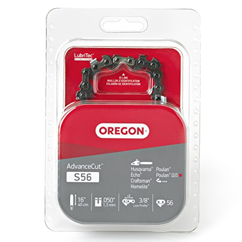Oregon S56 AdvanceCut Chainsaw Chain for 16-Inch Bar, Fits Echo CS-400, CS-310, CS-352 and CS-370, Poulan 2150 and 3816, Makita EA4300F40B, Ryobi RY3716 and more; 56 Drive Links