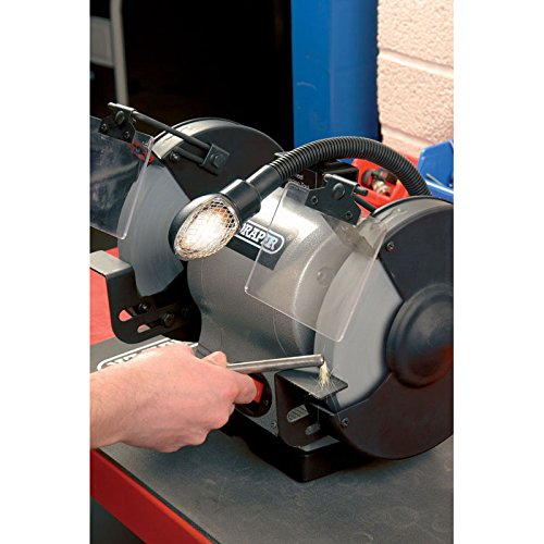 Draper 05097 200mm 550W 230V Heavy Duty Bench Grinder with Worklight
