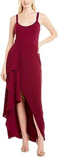 فستان فستان حريمي Cora بدون أكمام متتالية كشكشة من الكريب عالي لو فستان فستان طويل