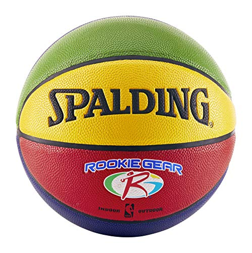 Cheapest Price! Spalding NBA Rookie Gear Multi Color Youth Indoor/Outdoor Basketball