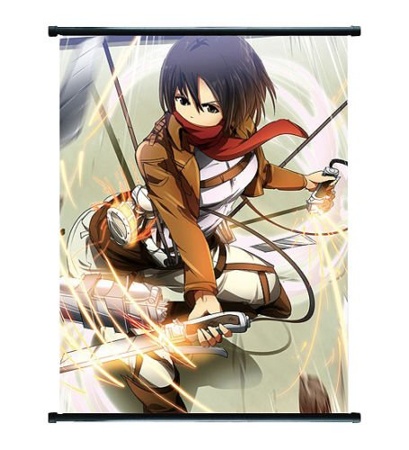 Attack on Titan Anime Mikasa Wall Scroll Medium Größe – 40 x 60 cm