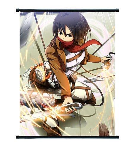 Attack On Titan Anime Mikasa Wall Scroll Extra Groß–60x 90cm