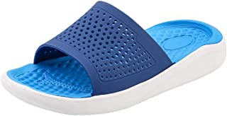 Men Slippers Slippers Summer Slide Slippers Slippers Beach Indoor/Outdoor Non-Slip Bathing Slippers 40-45