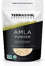Terrasoul Superfoods Organic Amla Berry Powder (Amalaki), 16 Oz - Rich in Antioxidant Vitamin C | Supports Immunity