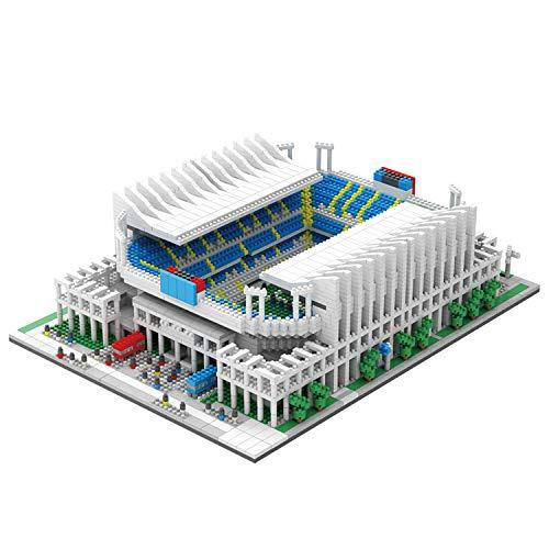 NeoLeo Micro Block Architecture Model Malaga Football Field Spain, Challenge for Adults Children,...