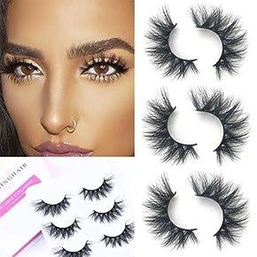SWINGINGHAIR Mink Lashes High Volume Long Type False Eyelashes Hand Made Strips Reusable Make Up Eyelashes