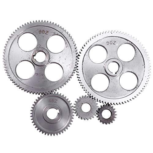 WOVELOT 5 Unids/Set CJ0618 Engranaje de MáQuina Herramienta Engranajes de Metal Engranaje de Torno Torno de Corte de Metal