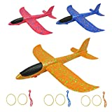 IROCH Catapult Plane Hand Throwing Glider Airplane Toy,3 Pack EPP Foam Aircraft with 13.6 inches Wingspan for Outdoor Sports Garden Yard Playing