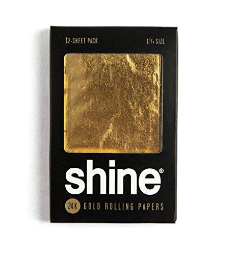 """SHINE 12 Sheet Gold, 1 1/4"""""""