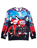Ugly Christmas Sweater Style 3D Men Women Cat T-Rex Trump Pullover Sweatshirt Cats North Pole Large