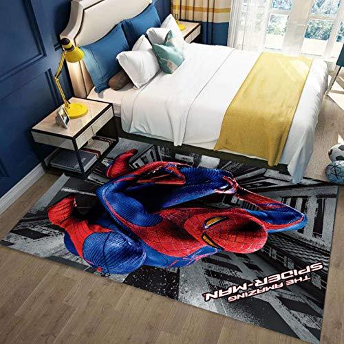 BLANK Spider Mask Man Tapis De Sol en Tapis 3D, Tapis Antidérapants À Poils Courts, Tapis De Sol en Polyester Doux, Décorations pour La Maison 120X170Cm