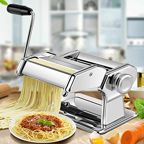 Best Review Of AN&GLOBALS 5 in 1 Stainless Steel Pasta Lasagna Spaghetti Tagliatelle Ravioli Maker M...