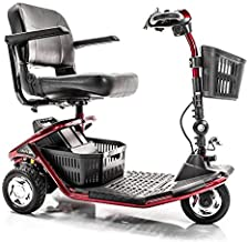 LiteRider 3-Wheel Folding Travel Mobility Scooter Red