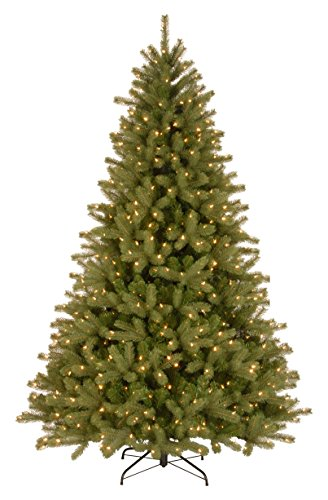 National Tree Company 'Feel Real' Pre-lit Artificial Christmas Tree | Includes Pre-strung Multi-Color LED Lights and Stand | Lakewood Spruce - 7.5 ft