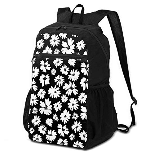 Lightweight Daypack For Hiking Hand Drawn Tropical Flowers Palm Leaves Jungle Plants Hiking Picnic Bag Packable Backpack For Hiking Lightweight Waterproof For Men & Womentravel Camping Outdoor