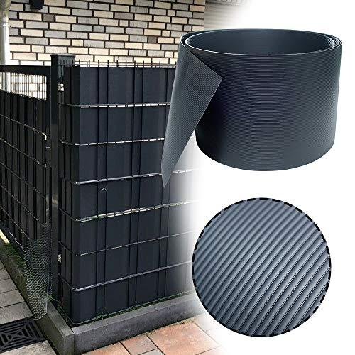 UISEBRT 10x Sichtschutzstreifen Hart PVC für doppelstabmatten - Sichtschutz Balkon gartenzaun Anthrazit,25m x 19cm (Anthrazit)
