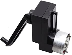 Qianson 4W Hand Crank DC Power Generator Gear Motor Dynamo Hand held Generator 100-300mA For DIY Flashlight Portable Charger