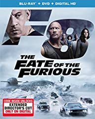 The Fate of the Furious features Vin Diesel, Dwayne Johnson, Michelle Rodriguez and more Plastic has been removed but DVD and Blu Ray are in excellent condition, no scratches