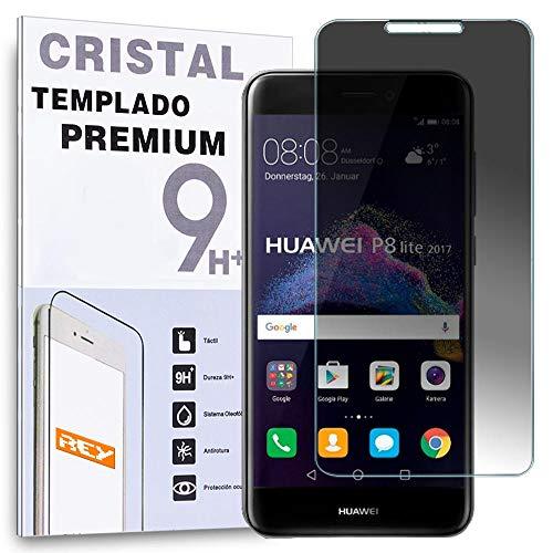 REY Protector de Pantalla Anti ESPÍA para Huawei P8 Lite 2016, Cristal Vidrio Templado Premium