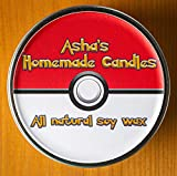 Pokemon Pokeball Soy Candles (Set of 4) Grass Electric Water and Fire Type Scented (8 oz)