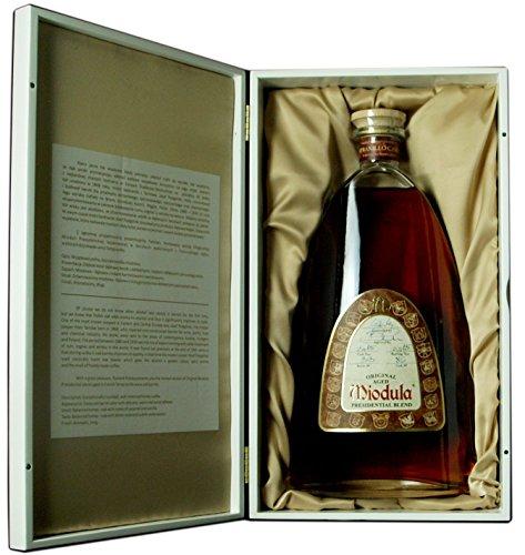 Original Aged Miodula Presidential Blend in Sherryfass-Luxusbox in piano-weiß 40% Alkoholgehalt