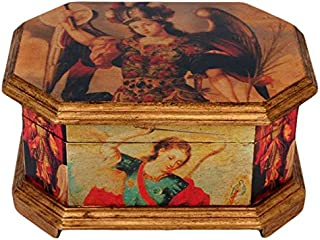 "NOVICA 166063"" Archangels Decoupage Jewelry Box"