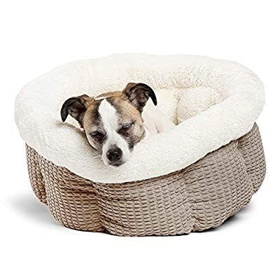 Best Friends by Sheri Cuddle Cup Mason Cozy Microfiber Cat and Dog Bed in Latte, Latte Mason, Standard (Cup-MSN-LTE)