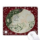 la beauté vine serpent style chinois aquarelle tapis de souris en hiver flocon de neige