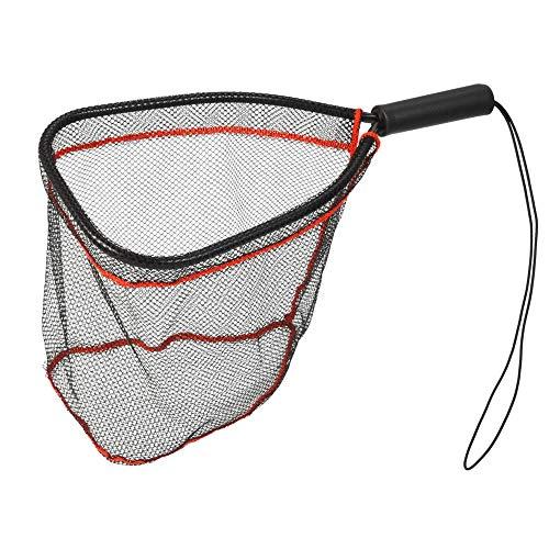 Kescher Angeln Aluminium-Kescher Fangen Und Lösen Netzfisch-Saver-Nylon-Netz Für Fliegenforelle-Kajak-Bootfahren