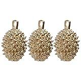 FAVOMOTO 3Pcs Durian Independente Charme Bronze Rei de Frutas Chaveiro Pingente Comida Frutas Pingentes Bead para DIY Artesanato Colar Pulseira Fazer Jóias Cor Aleatória