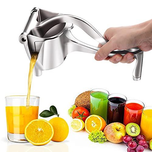 Exprimidor de limones portátil, multifunción, exprimidor manual para frutas y limones, diseño pesado, resistente y duradero, protección contra el óxido y la corrosión, ergonómico y duradero