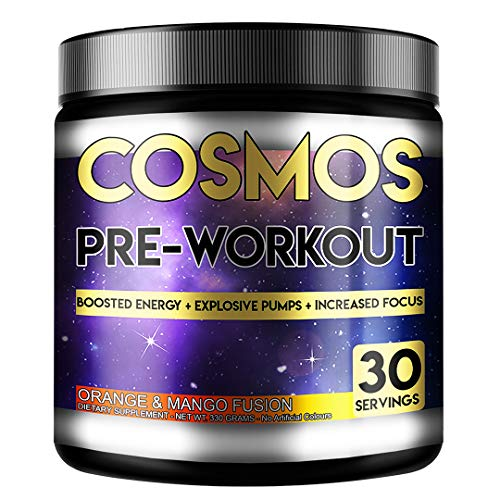 Perihelion Nutrition Cosmos Pre-Workout 30 Servings 330grams Energy Drink with Caffeine + Creatine (Orange & Mango)