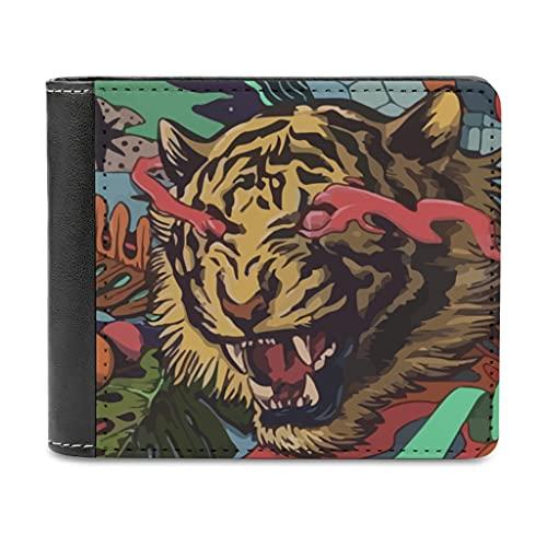 Tigertier - Monedero de piel para hombre y mujer, monedero de piel con bloqueo, monedero fino, regalo para amigas, blanco, talla única,