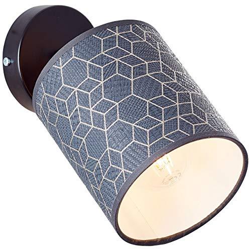 BRILLIANT Galance Wandspot schwarz Innenleuchten,Strahler,-Wand   1x A60, E27, 40W, geeignet für Normallampen (nicht enthalten)   A++   Edler Strukturschirm aus echter Vinyl-Tapete