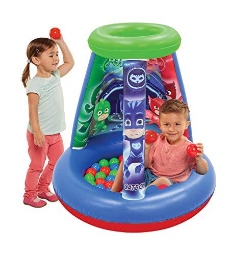 "PJ Masks Ball Pit, 1 Inflatable & 15 Sof-Flex Balls, Blue/Green, 28""W x 28""D x 33""H"